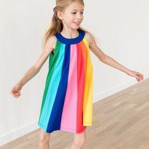 HANNA ANDERSSON Rainbow Swing Dress Girl's 3 Regul